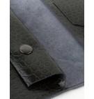 Portfel skórzany czarny Billetera