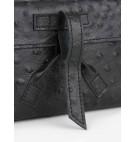 Belt bag w kolorze czarnym z wypustkami