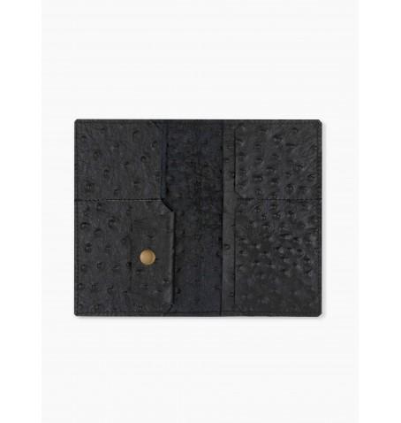 Portfel skórzany ultra cienki czarny z wypustkami Billetera Extra Grande