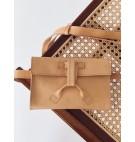 Belt bag w kolorze prażony migdał/ciało gładki