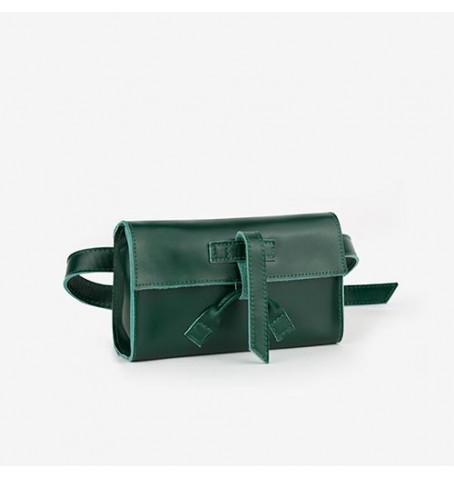 Belt bag w kolorze butelkowej zieleni