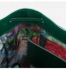 Torebka skórzana butelkowa zieleń Bolso Número Tres Mediano/Średnia